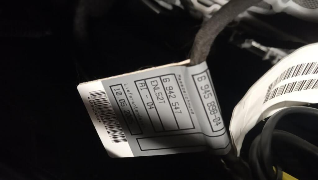 BMW wiring SRS