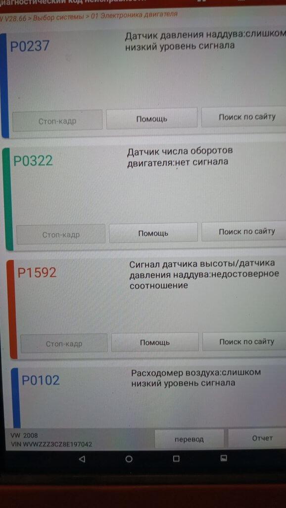 PAssat B6 ошибка P0322