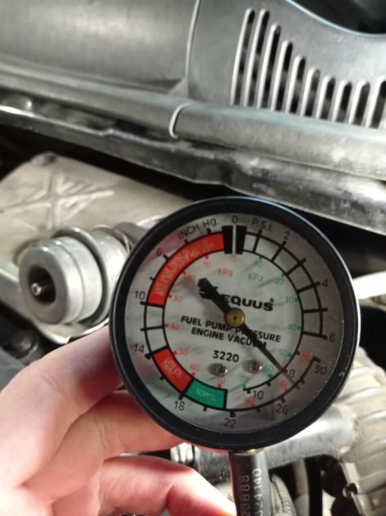Проверка вакуума на актуаторе турбины