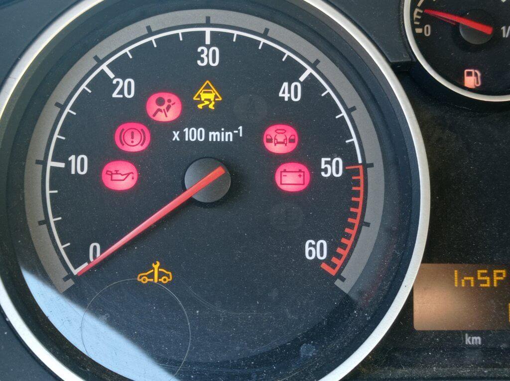 Opel Astra H 1.9 CDTI Горит ключик на панели