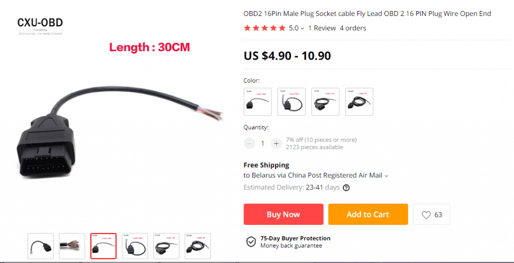 OBD CABLE for KTAG