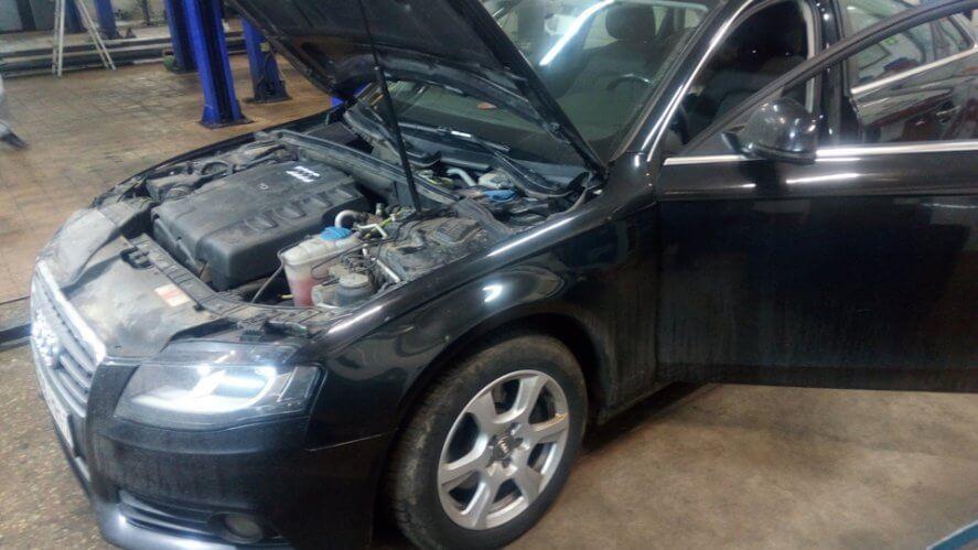Audi A4 B8 2.0 TDI Поиск утечки тока